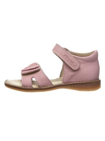 POM POM Leren sandalen lichtroze