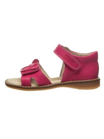 POM POM Leren sandalen roze