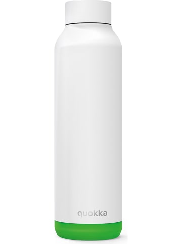 """Quokka Roestvrijstalen drinkfles """"Solid"""" wit/groen - 630 ml"""