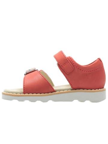 """Clarks Skórzane sandały """"Crown Bloom"""" w kolorze czerwonym"""