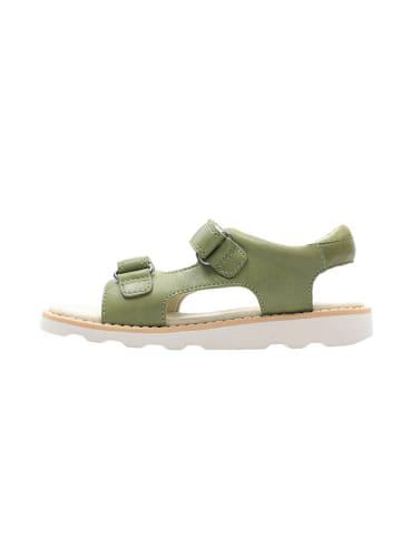 """Clarks Skórzane sandały """"Crown Root"""" w kolorze zielonym"""