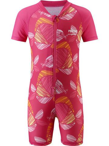 """Reima Kombinezon kąpielowy """"Odessa"""" w kolorze różowym ze wzorem"""