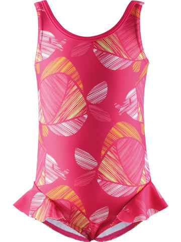 """Reima Strój kąpielowy """"Corfu"""" w kolorze różowym ze wzorem"""