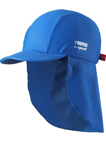"""Reima Czapka """"Turtle"""" w kolorze niebieskim z osłoną karku"""