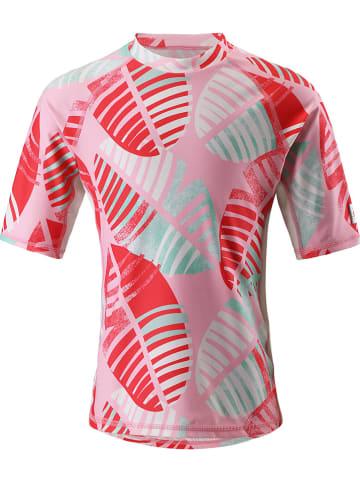 """Reima Koszulka kąpielowa """"Fiji"""" w kolorze czerwonym ze wzorem"""
