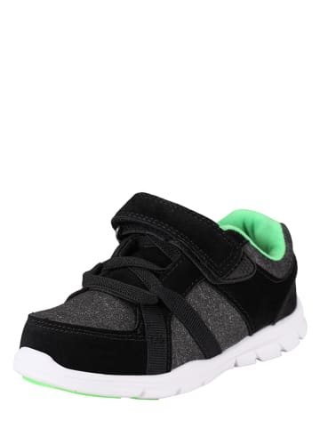 "Reima Sneakers ""Lite"" in Schwarz/ Hellgrün"