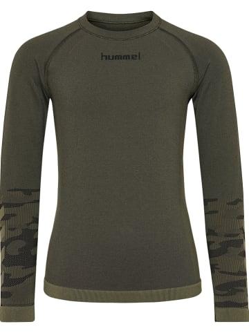 Hummel Koszulka sportowa w kolorze khaki