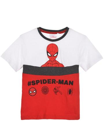 """Spiderman Shirt """"Spider-Man"""" wit/rood"""