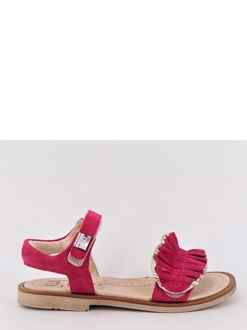 TREVIRGOLAZERO Leren sandalen roze