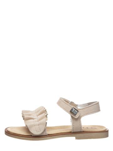 TREVIRGOLAZERO Skórzane sandały w kolorze beżowym