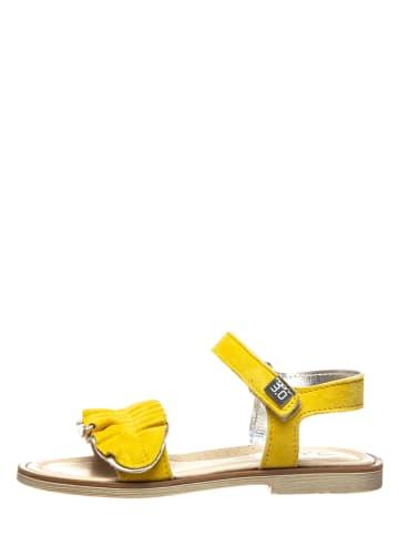 TREVIRGOLAZERO Leren sandalen mosterdgeel