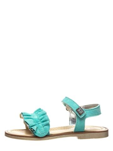 TREVIRGOLAZERO Leren sandalen turquoise