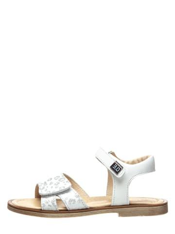 TREVIRGOLAZERO Leren sandalen wit/zilverkleurig