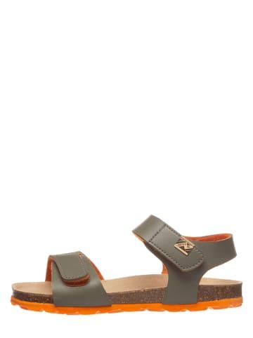 TREVIRGOLAZERO Sandalen kaki/oranje