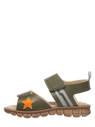 TREVIRGOLAZERO Leren sandalen kaki