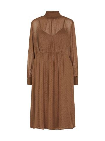 Soft Rebels Sukienka w kolorze brązowym