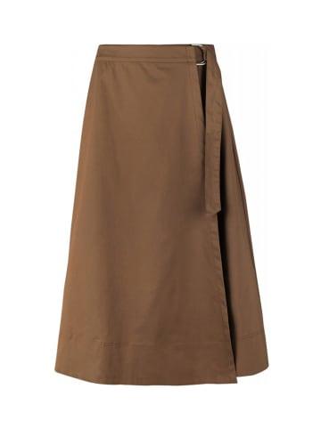 Soft Rebels Spódnica w kolorze brązowym