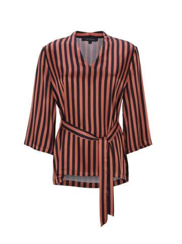 Soft Rebels Bluzka w kolorze brązowo-czarnym