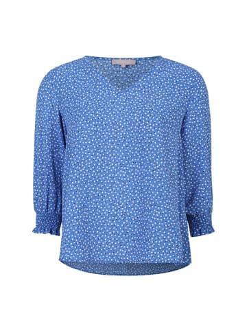 Soft Rebels Bluzka w kolorze niebiesko-białym