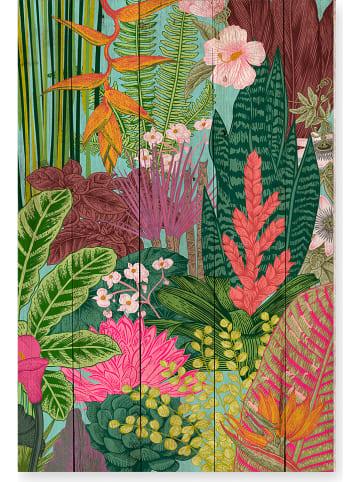 "Madre Selva Nadruk ""Nanda"" na drewnie - 40 x 60 cm"