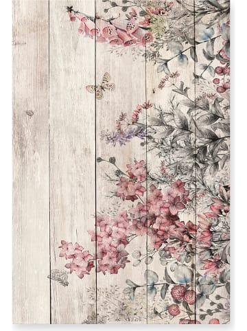 "Madre Selva Kunstdruk op hout ""Rose Flowers"" - (B)40 x (H)60 cm"