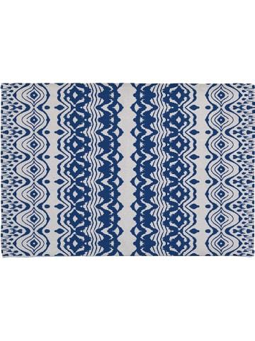 "Madre Selva Badvorleger ""Etnic"" in Blau - (L)60 x (B)40 cm"