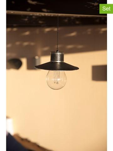 "Lumisky Solarne lampy LED (2 szt.) ""Cover"" w kolorze srebrnym - Ø 21 cm"