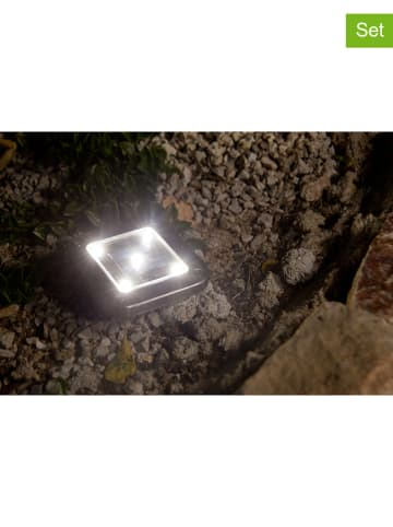 "Lumisky Solarne lampy LED (2 szt.) ""Decky"" w kolorze srebrnym - 10 x 10 cm"