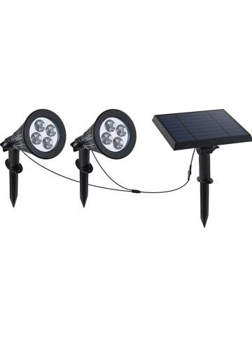 """Lumisky Solarna lampa LED """"Spiky"""" w kolorze czarnym - wys. 34 cm"""