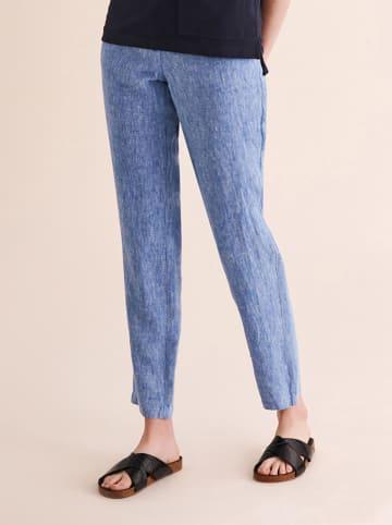 TATUUM Lniane spodnie w kolorze niebieskim