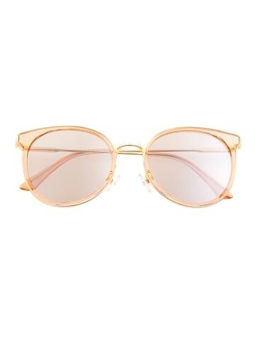 "Bertha Dameszonnebril ""Brielle"" goudkleurig/lichtroze"