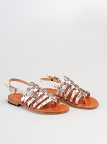 Baldinini Leder-Sandalen in Silber