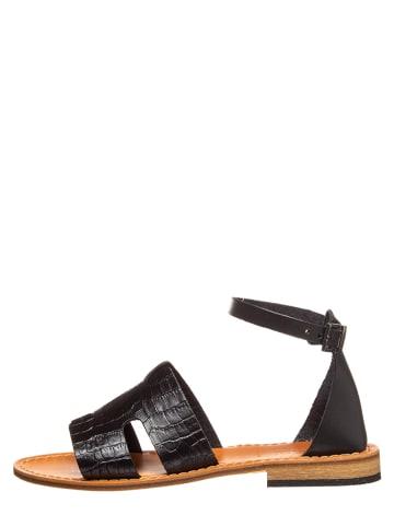Baldinini Leren sandalen zwart