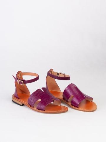 Baldinini Leren sandalen paars