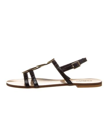 """Baldinini Leren sandalen """"St. Cocco"""" zwart"""