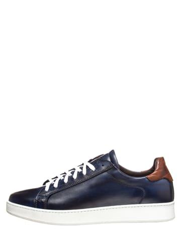 Baldinini Leren sneakers blauw