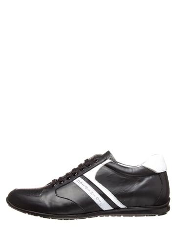Baldinini Leren sneakers zwart