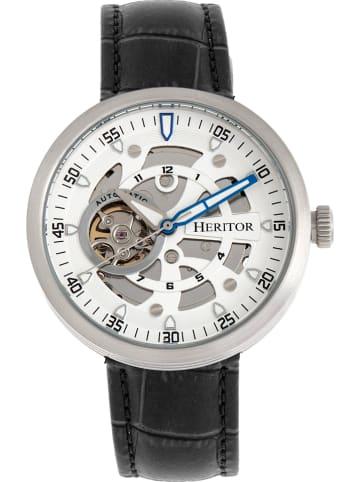 """Heritor Zegarek automatyczny """"Jasper"""" w kolorze czarno-srebrno-białym"""