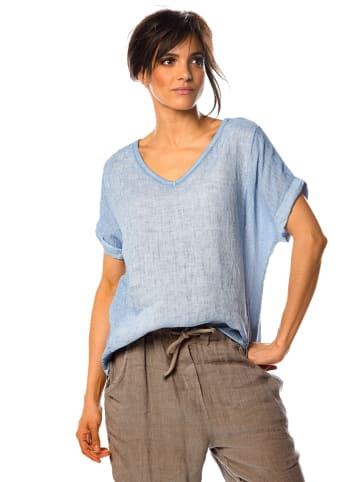 """La Fabrique du Lin Leinen-Shirt """"Angelique"""" in Hellblau"""