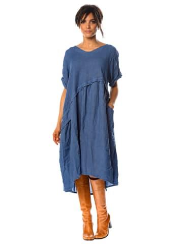 "La Fabrique du Lin Lniana sukienka ""Garance"" w kolorze niebieskim"