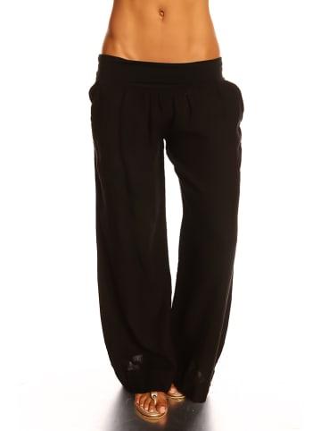 """La Compagnie Du Lin Lniane spodnie """"Lea"""" w kolorze czarnym"""