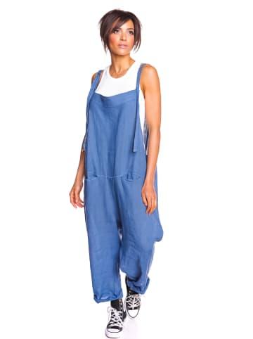 """La Fabrique du Lin Leinen-Latzhose """"Magnole"""" in Blau"""