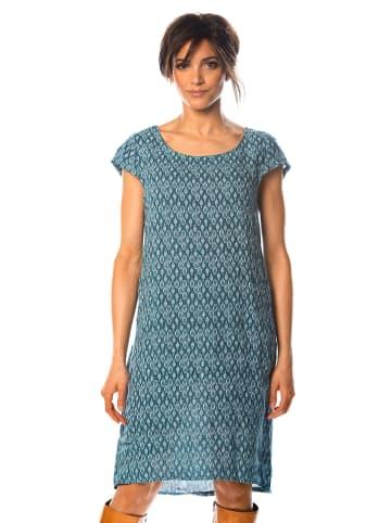 """100% Linen Leinen-Kleid """"Marlon"""" in Petrol"""