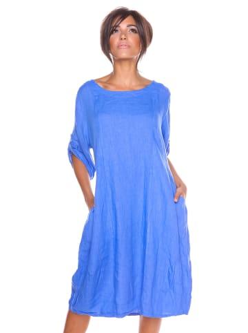 """La Fabrique du Lin Leinen-Kleid """"Sarah-Lee"""" in Blau"""