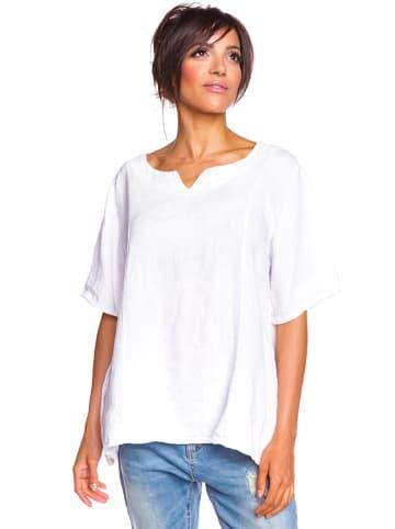 """La Fabrique du Lin Linnen blouse """"Thea"""" wit"""