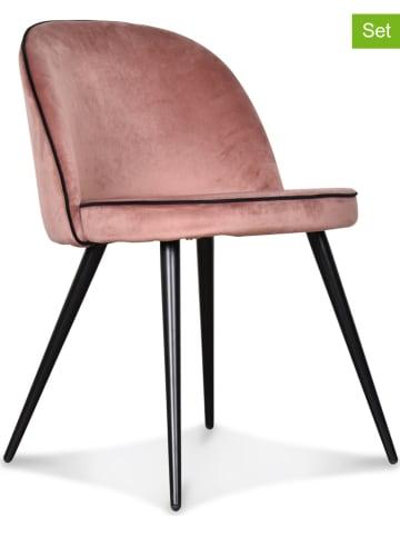"""Deco Lorrie Krzesła (2 szt.) """"Ingrid"""" w kolorze jasnoróżowym - 48 x 77 x 50 cm"""