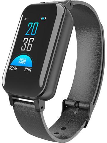 SmartCase Smartwatch mit Kopfhörern in Schwarz