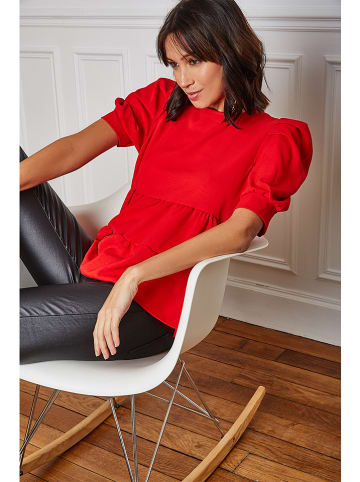 """Vanille & Chocolat Bluse """"Emy"""" in Rot"""