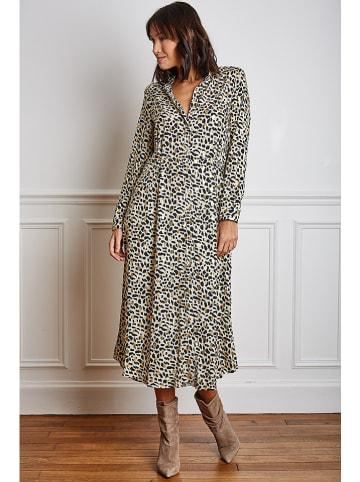 "Vanille & Chocolat Kleid ""Tina"" in Beige"