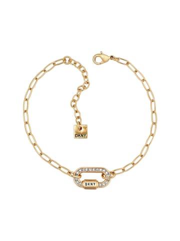 DKNY Bransoletka w kolorze złotym z kryształami Swarovski